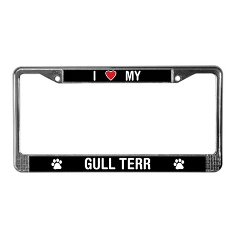 I Love My Gull Terr License Plate Frame