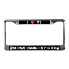 My German Longhaired Pointer License Plate Frame