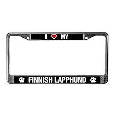 I Love My Finnish Lapphund License Plate Frame