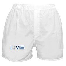 Love Peace Greece Boxer Shorts