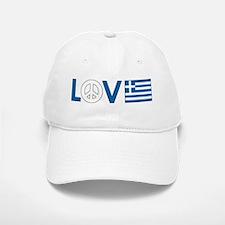 Love Peace Greece Baseball Baseball Cap