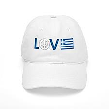 Love Peace Greece Baseball Cap