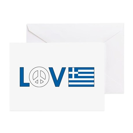 Love Peace Greece Greeting Cards (Pk of 10)