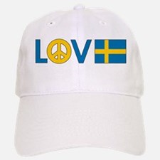 Love Peace Sweden Baseball Baseball Cap