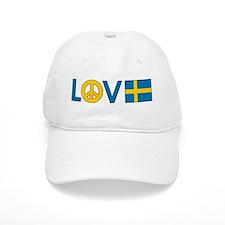 Love Peace Sweden Baseball Cap