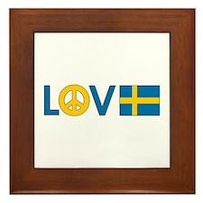 Love Peace Sweden Framed Tile