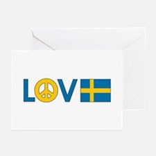 Love Peace Sweden Greeting Cards (Pk of 10)