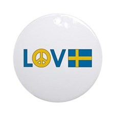 Love Peace Sweden Ornament (Round)