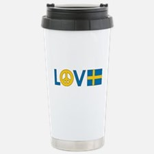 Love Peace Sweden Travel Mug