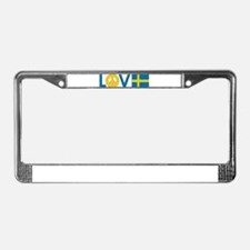Love Peace Sweden License Plate Frame