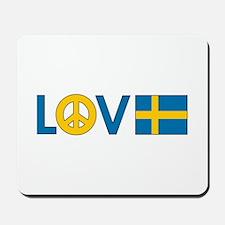 Love Peace Sweden Mousepad