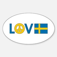 Love Peace Sweden Stickers