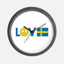 Love Peace Sweden Wall Clock