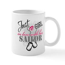 Just a girl Sailor Mugs