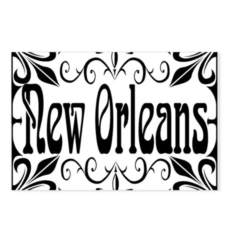 New Orleans Wrought Iron Design Postcards (Package