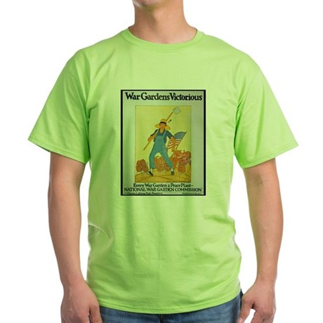 War Gardens Victorious (Front) Green T-Shirt