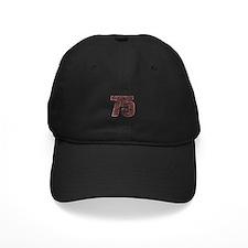 75th Birthday Red Grunge Baseball Hat