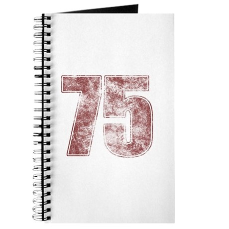 75th Birthday Red Grunge Journal