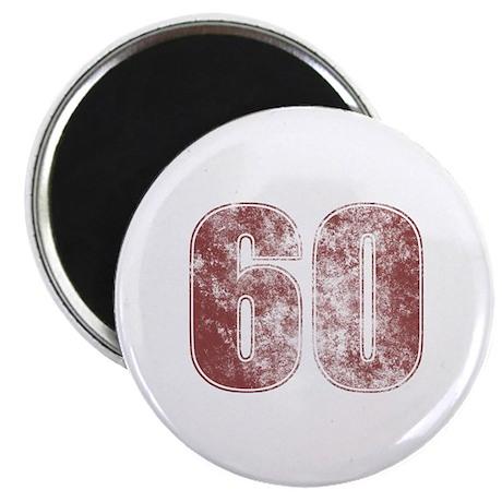 60th Birthday Red Grunge Magnet