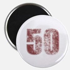 50th Birthday Red Grunge Magnet