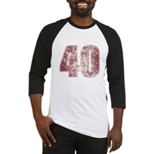 40th Birthday Red Grunge Baseball Jersey