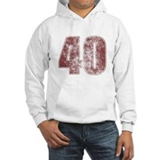 40th Birthday Red Grunge Hoodie