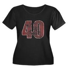 40th Birthday Red Grunge T