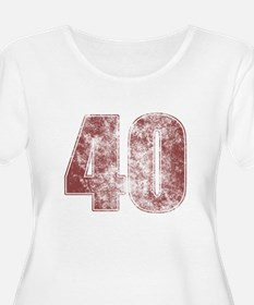 40th Birthday Red Grunge T-Shirt