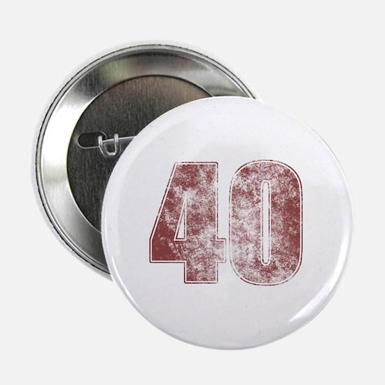 """40th Birthday Red Grunge 2.25"""" Button"""