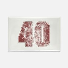 40th Birthday Red Grunge Rectangle Magnet