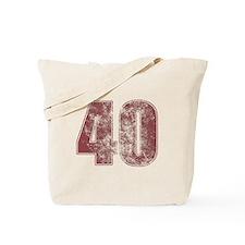 40th Birthday Red Grunge Tote Bag