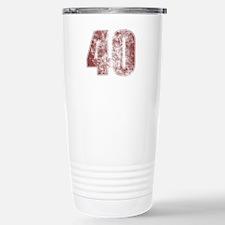 40th Birthday Red Grunge Travel Mug