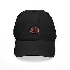 40th Birthday Red Grunge Baseball Hat