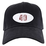 40th birthday Baseball Cap with Patch