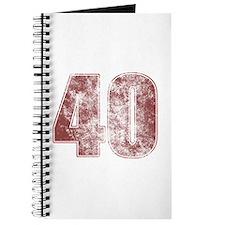 40th Birthday Red Grunge Journal