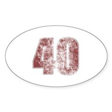 40th Birthday Red Grunge Decal