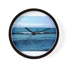 Blue/Green Ocean Wall Clock