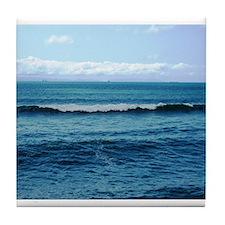 Blue/Green Ocean Tile Coaster