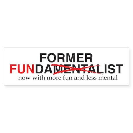Former Fundy Sticker (Bumper)