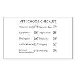 Vet School Checklist Sticker (Rectangle 50 pk)