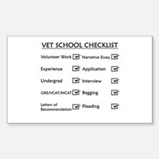 Vet School Checklist Decal
