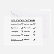 Vet School Checklist Greeting Card