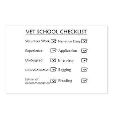 Vet School Checklist Postcards (Package of 8)