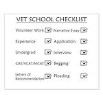 Vet School Checklist Small Poster