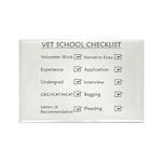 Vet School Checklist Rectangle Magnet (100 pack)
