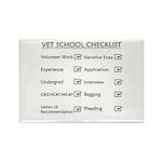Vet School Checklist Rectangle Magnet (10 pack)
