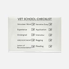 Vet School Checklist Rectangle Magnet