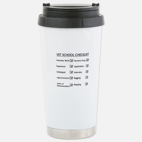 Vet School Checklist Stainless Steel Travel Mug