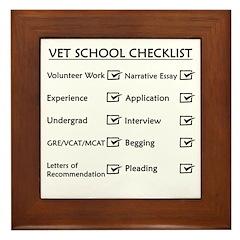 Vet School Checklist Framed Tile