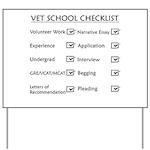 Vet School Checklist Yard Sign